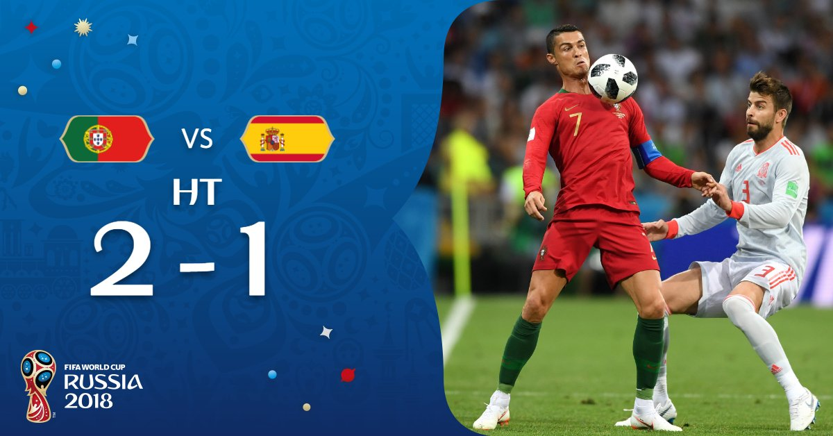 Annnnnnd breathe.   @selecaoportugal lead in an extraordinary game in Sochi.   #PORESP