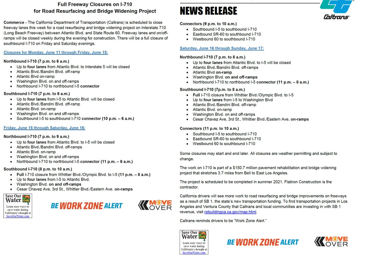 Tonight Is Last Night For Alternate >> Caltrans District 7 On Twitter Reminder Full Closure Of