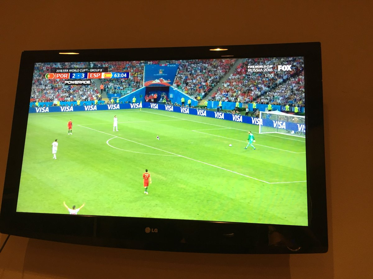test Twitter Media - We saw two low scoring matches earlier today... #POR vs #ESP a little higher scoring 😎. We're tuned in to a great match between the two countries. #WorldCup2018 https://t.co/0gHhSa7sy5