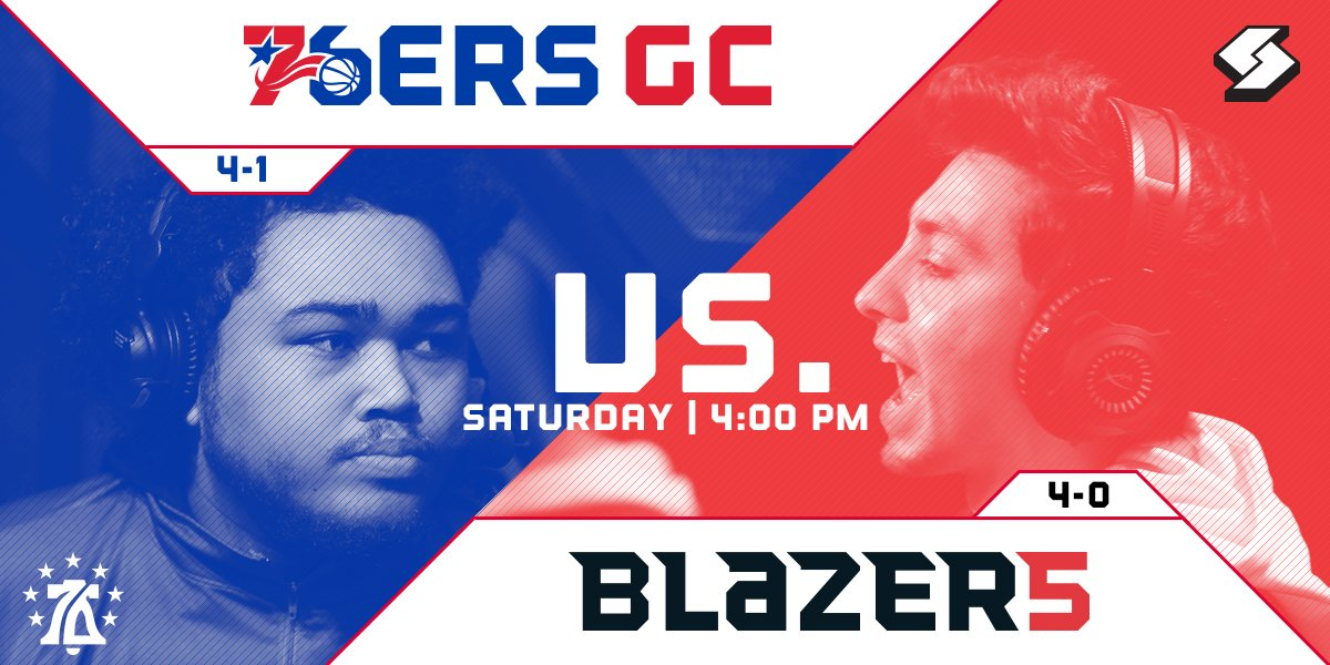 The weekend match-up everyones talking about. 4PM/est | @76ersGC v. @blazer5gaming