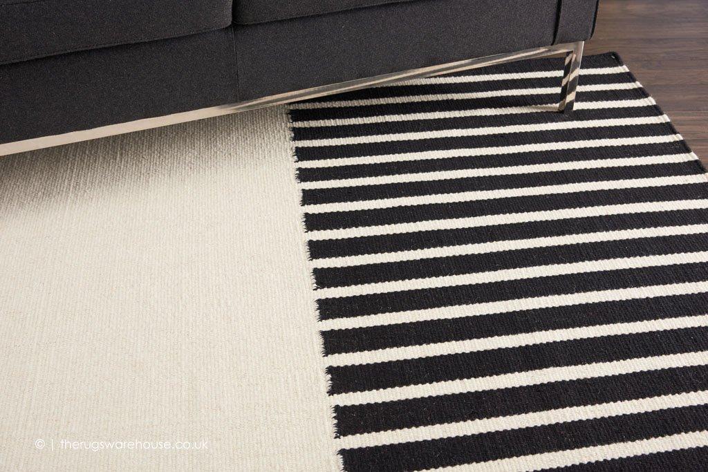 Raynor Ivory Black Rug By Calvin Klein