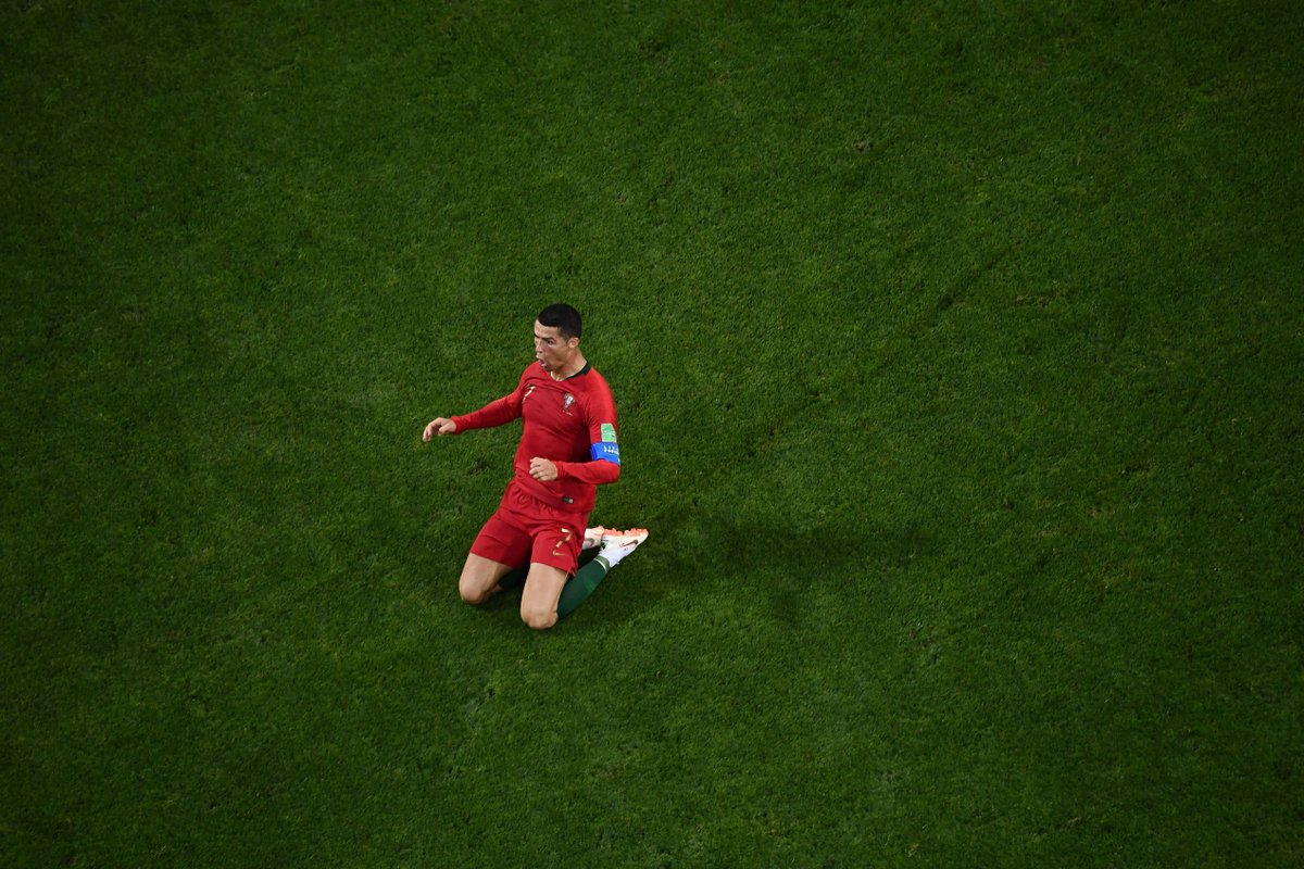 Cristiano Ronaldo is the first player in #WorldCup history to score a hat-trick against #ESP  SIUUUUUUUUUUUUUU!