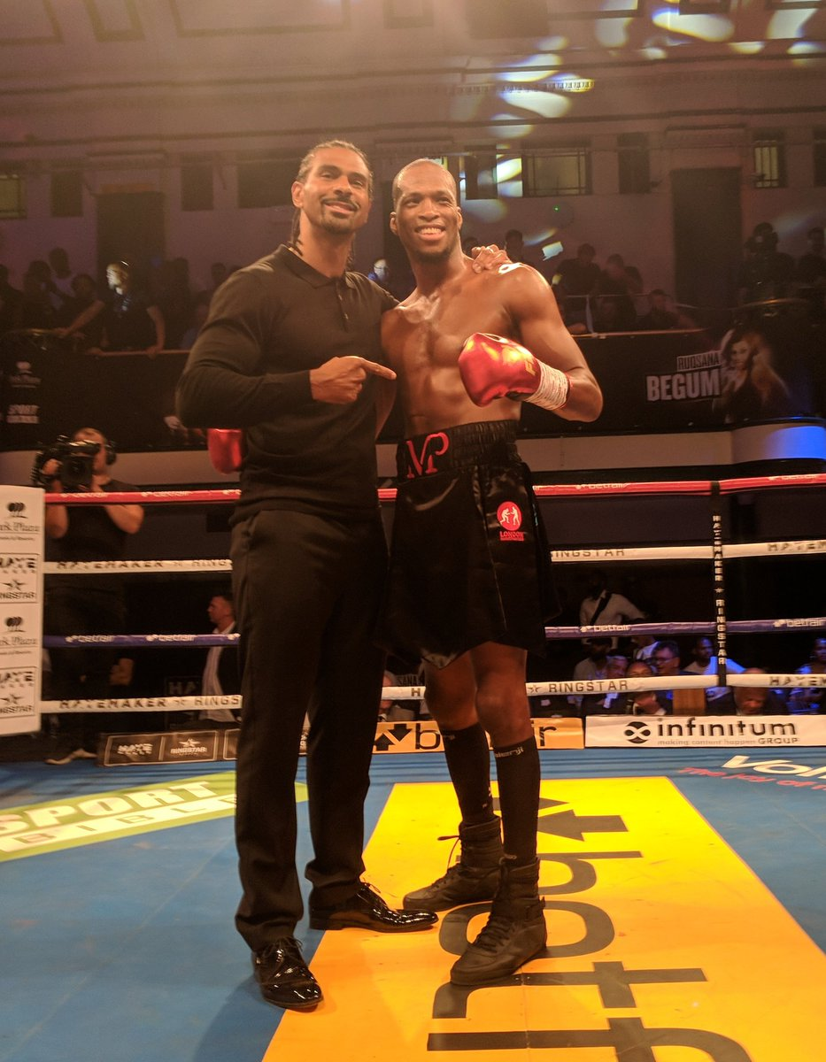 Michael Page (@Michaelpage247) earns the victory via 2nd round KO. #HayemakerBoxing #GP #MVP 🥊🐍🇬🇧
