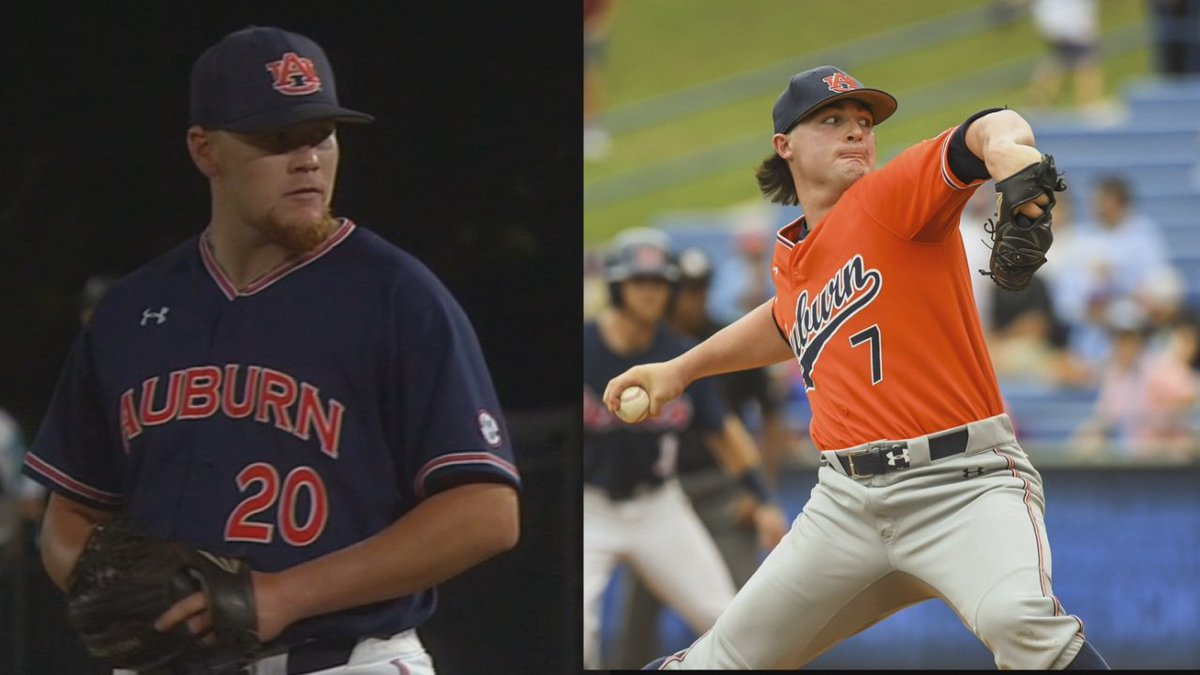 The future for @AuburnBaseball is bright and a pair of N. AL natives are leading the charge on the bump.   @TannerBurns_7 (Decatur) and @CodyGreenhill (Russellville) combined for a breakout yr: 13-7, 2.73 ERA, 132 K  Also named 2018 Perfect Game/Rawlings Freshman All-Americans<br>http://pic.twitter.com/CflUBobagx