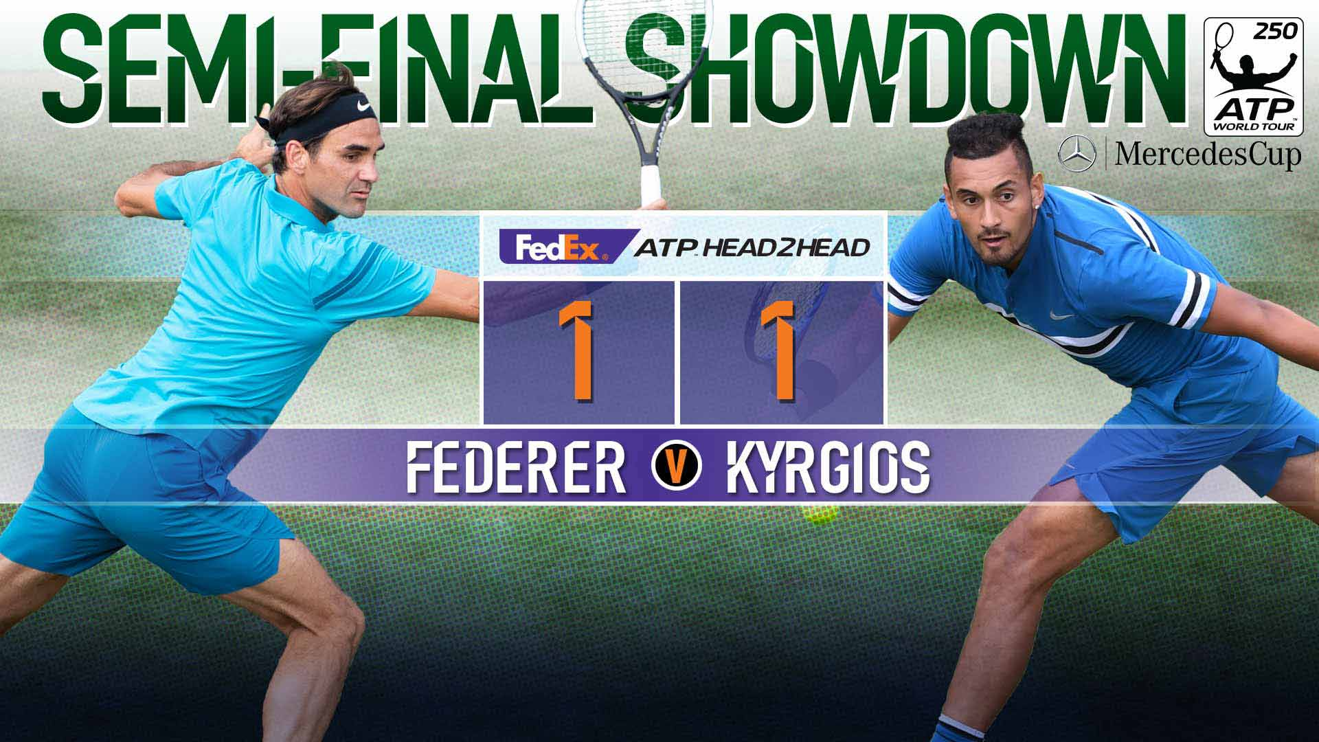 Federer to face Kyrgios at the #MercedesCup with No. 1️⃣ on the line.  ➡️ https://t.co/r36rcM5HC0  #ATP https://t.co/tD6GloJEAG