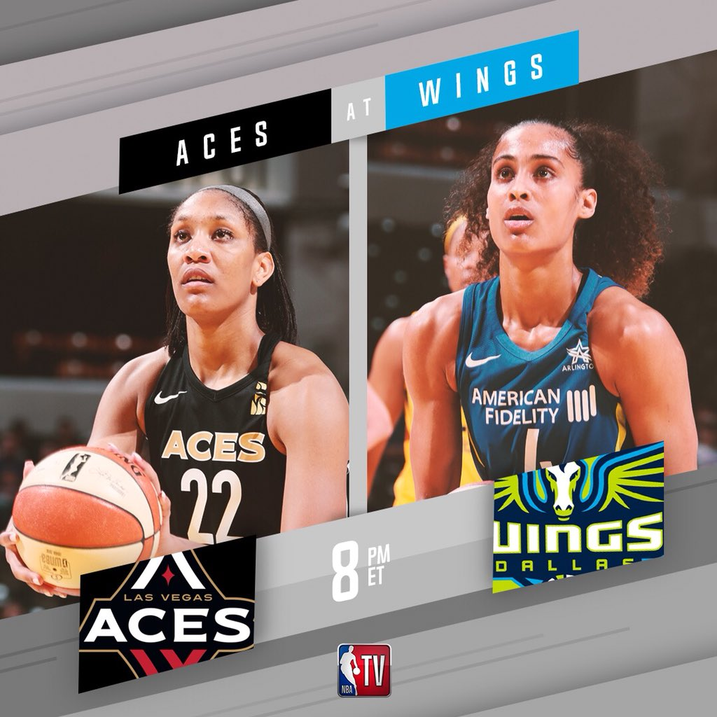 The @LVAces take on the @DallasWings at 8pm ET on NBA TV! 📺 #WatchMeWork