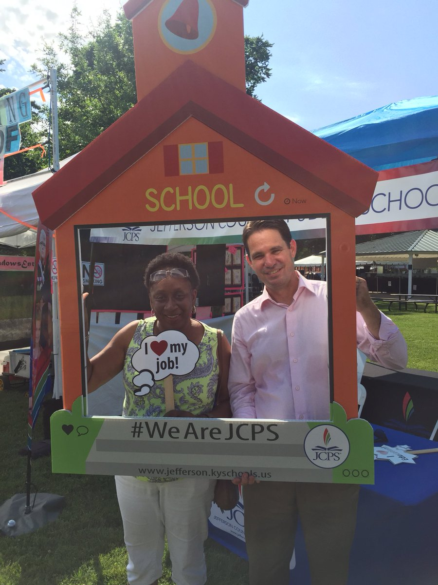 Fun times at the @JCPSKY booth at the Lyndon Fair with @JCPSSuper
