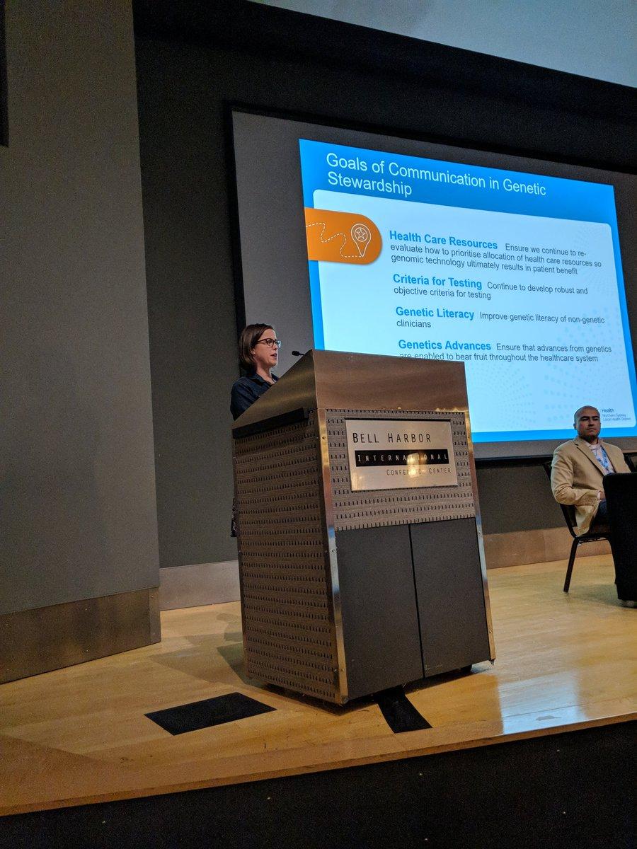 Communication goals for laboratory stewardship, communicated effectively by @Lucinda_Freeman  #PLUGSSummit18