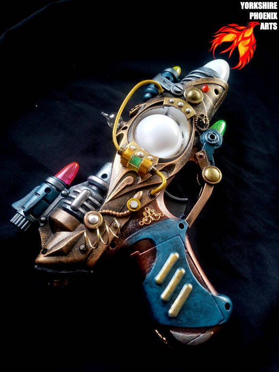 #steampunk https://t.co/Q8HXDig1s6 STEAMPUNK Nautilus Ray gun, LED multicoloured lights, sounds, cosplay or display by YorkshirePhoenixArts