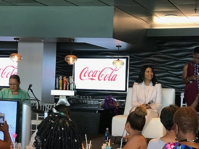Im so proud of my wife @cjbycookie! She did a great job on the Women in Entertainment Luncheon panel today at Stubhub Center.