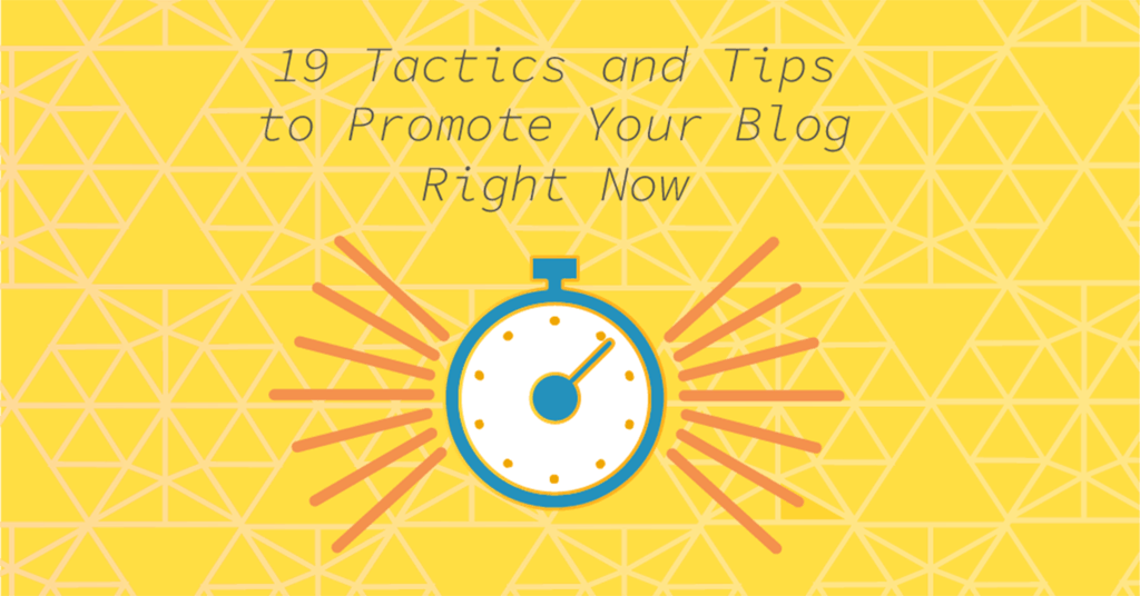 How to Promote Your Blog – 19 Easy Tactics To Get Traffic To Your Blog dlvr.it/QXRchg