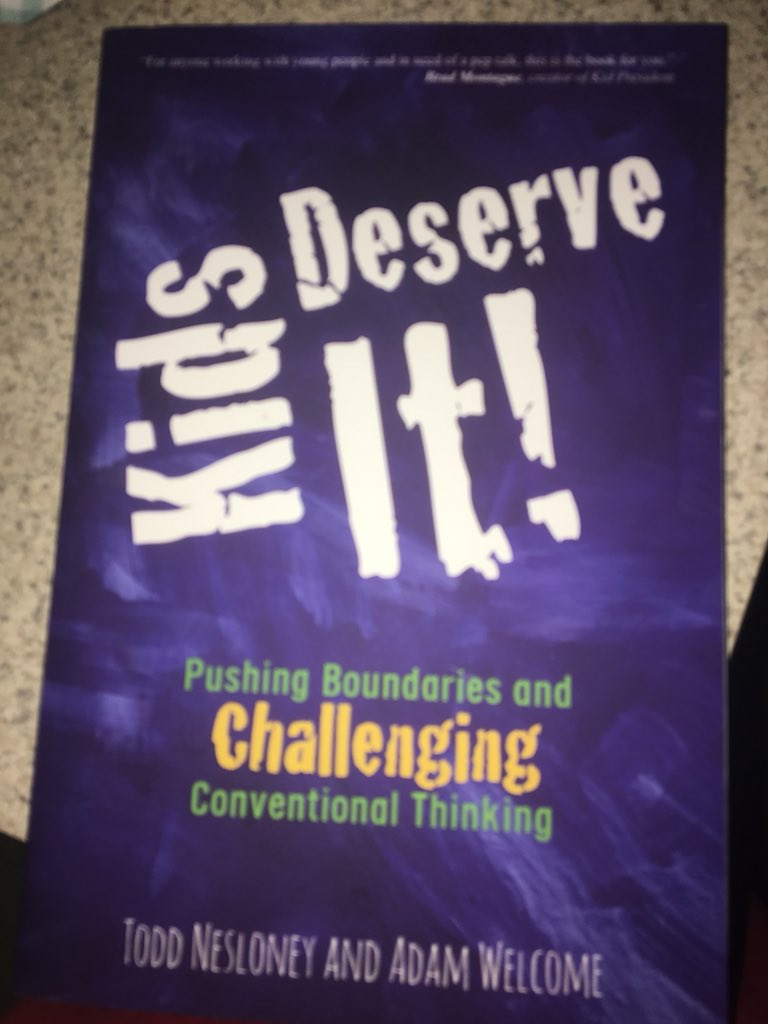 I will be participating in a book study #KidsDeserveIt #participatementors