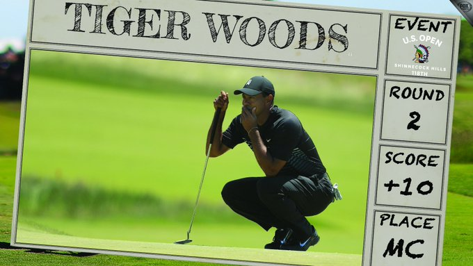 This is the third time Tiger has missed the #USOpen cut in his career Photo