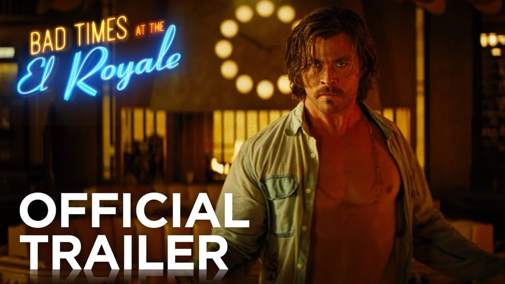 Bad Times at the El Royale • Official Trailer •  https:// youtu.be/lR1mtJre2Oo  &nbsp;   Seven strangers, each with secrets to bury, meet at a run-down hotel in 1960s California. Over the course of a night, they'll get one last shot at redemption before everything goes wrong. October 5, 2018!<br>http://pic.twitter.com/krSVoUg1Ds