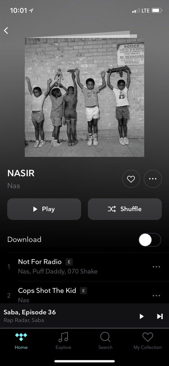 Finally! @nas #Nasir #AlbumOfTheYearSoFar 💯