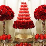 """848 Likes, 8 Comments - Bizzie Bee Creations By Iris? (@bizziebeecreations) on Instagram: """"Candy Dessert Table by @bizziebeecreations and macaroons provided by @leparadismacaron and…"""" This fantastic party idea was featured today on https://t.co/2n0L40LUCS! #partyideas #party #…"""