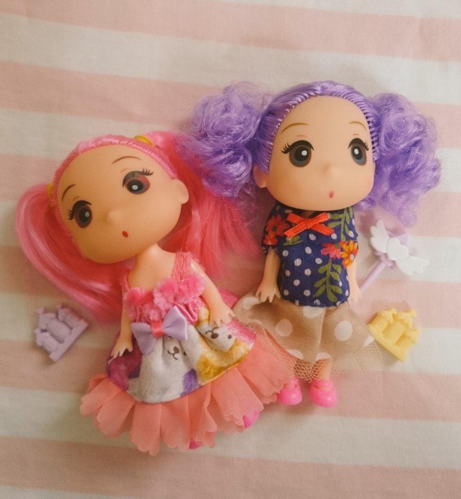 test ツイッターメディア - セリアのお人形の服を作り替える。フリフリになってしまった… #doll #fashion #girl #dollfashion #handmade #セリア #100均 https://t.co/yOnaOpmRnb