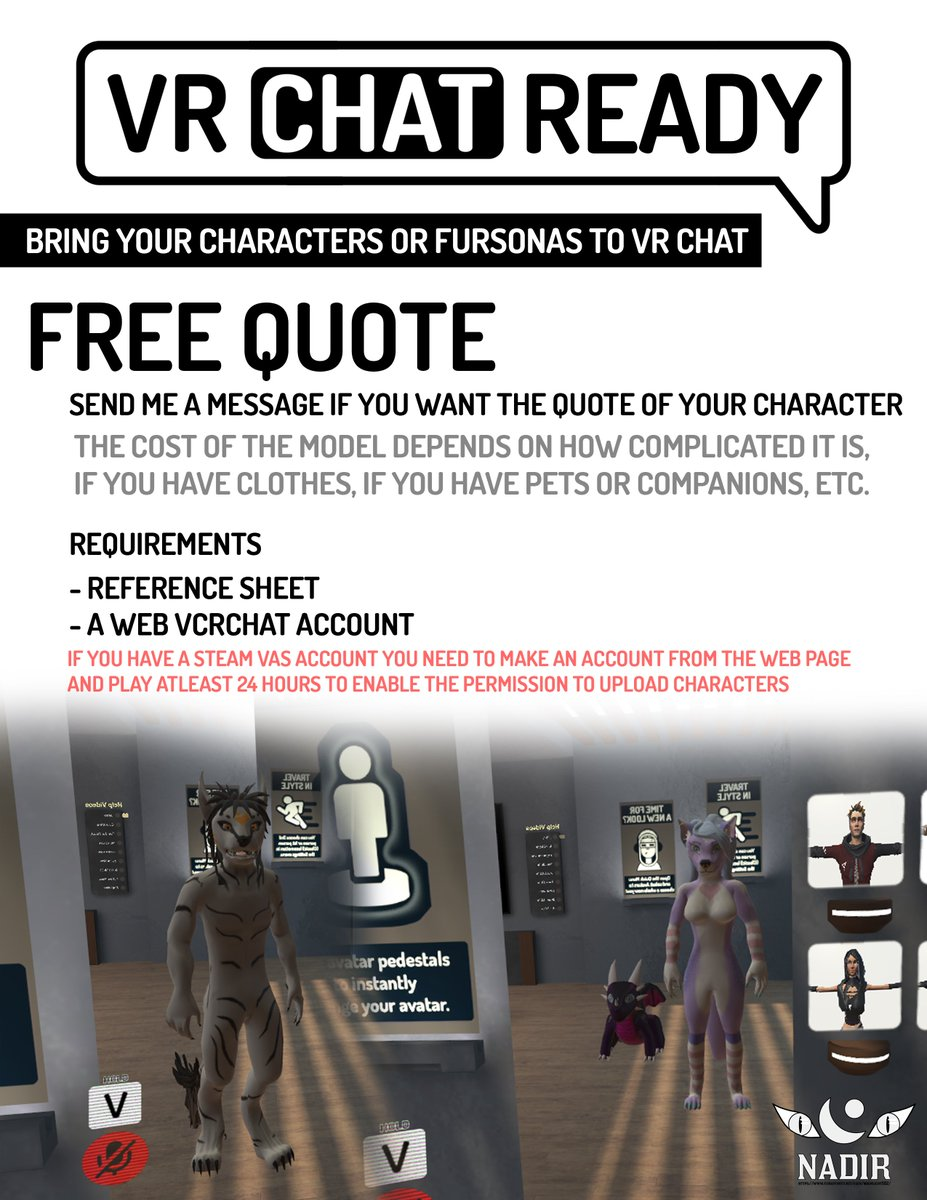 FREE QUOTES of your characters #vrchat #Furryart #Commission