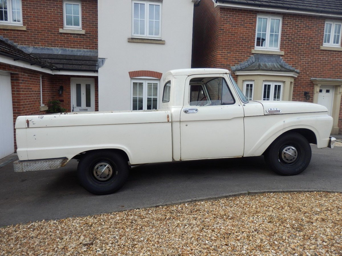 1960s Car Years On Twitter 1964 Ford F100 V8 Truck Short Bed Pickup Classic Vintage American Registered 4 Speed Https Tco Firzlunks9 Ebay Now