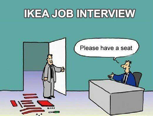 #Sollicitatie bij #IKEA..... IKEA job interview.....