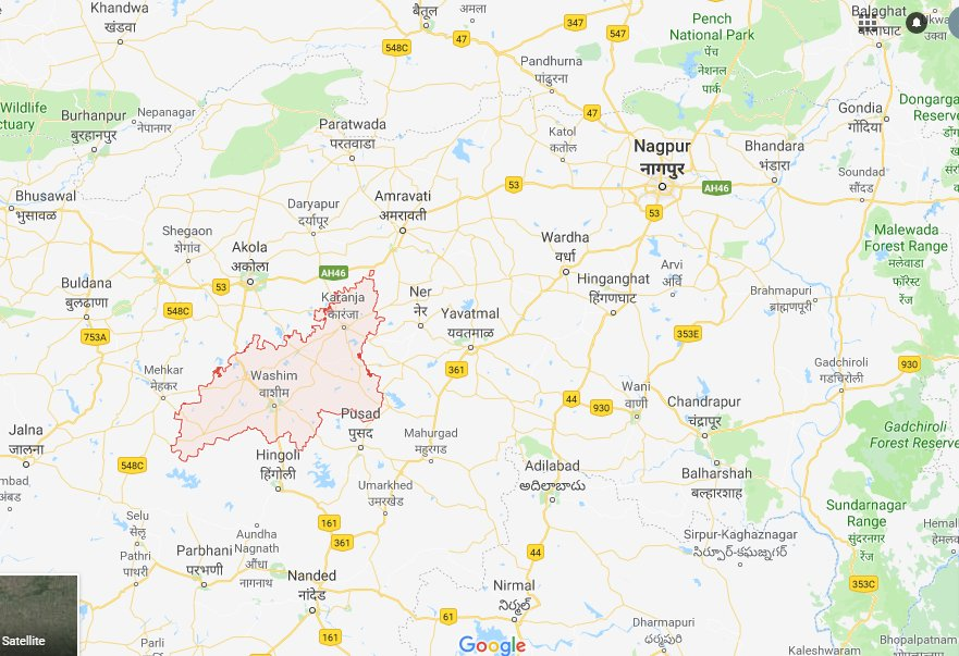 Marriage lawn in nagpur map