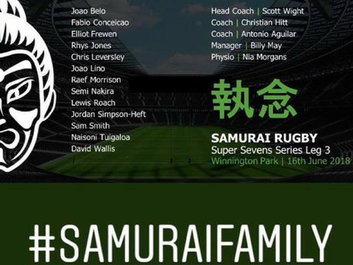 test Twitter Media - @SamuraiRugby take on leg 3 of the @S7SRugby at Winnington Park today! Who's heading to the event 🙌 🎉  Best of luck from the Samurai team! #SamuraiFamily #SuperSevensSeries https://t.co/o9WT4liHtO