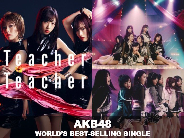 #AKB48s new Summer Banger, #TeacherTeacher is the Worlds best-selling Single of the week!👏1⃣🌏🎵🔥🌟 facebook.com/worldmusicawar…