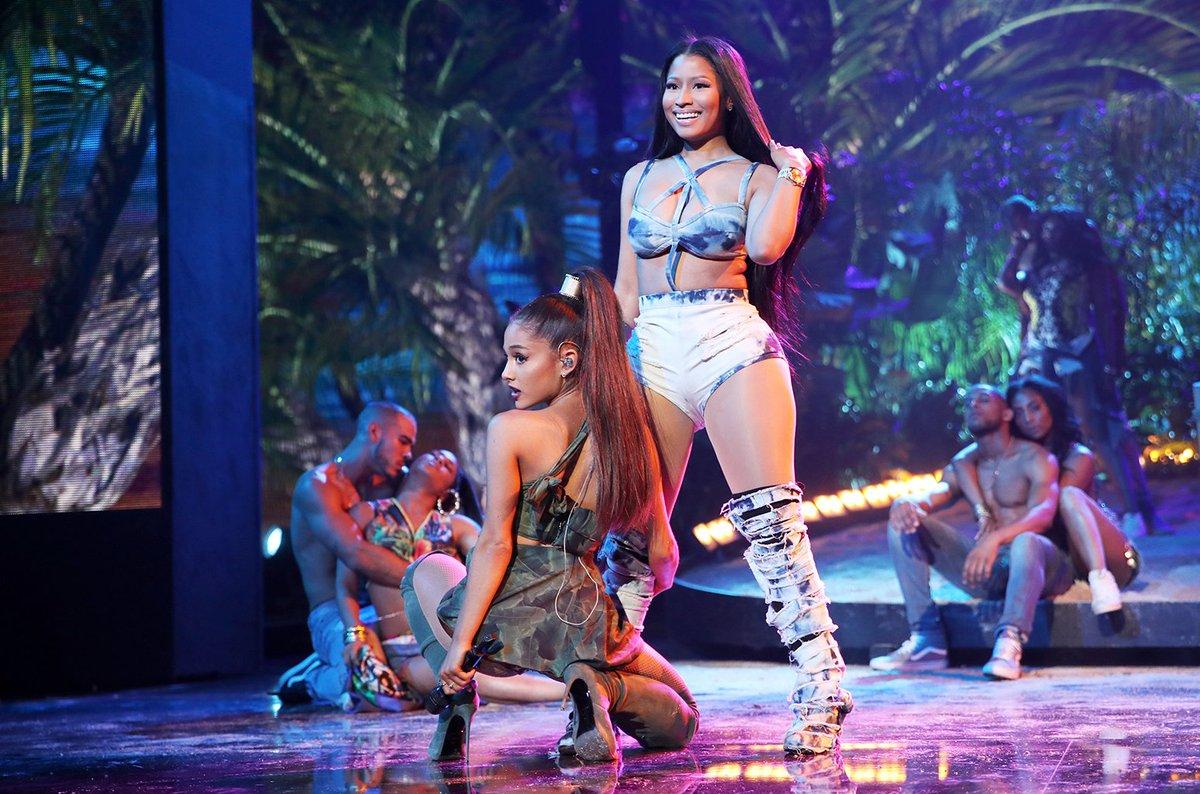 Nicki Minaj and Ariana Grande released their new collab 'Bed' blbrd.cm/vdAc0a