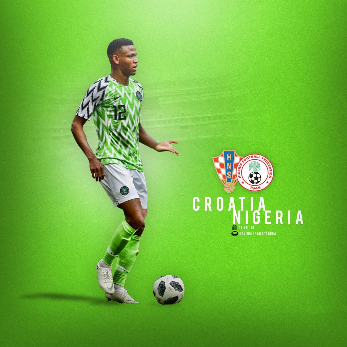 For Naija... 🇳🇬 Let's go! #Worldcup2018
