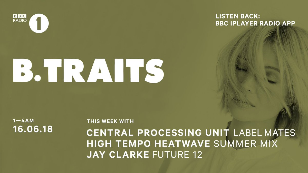Listen to a jam packed show with @BTraits High Tempo Heatwave mix, @jayclarke_uk Future 12 and @CPURECORDS in for Label Mates! https://t.co/ak57gTS0Yd 📣📣📣 https://t.co/2Fg4HeATmS