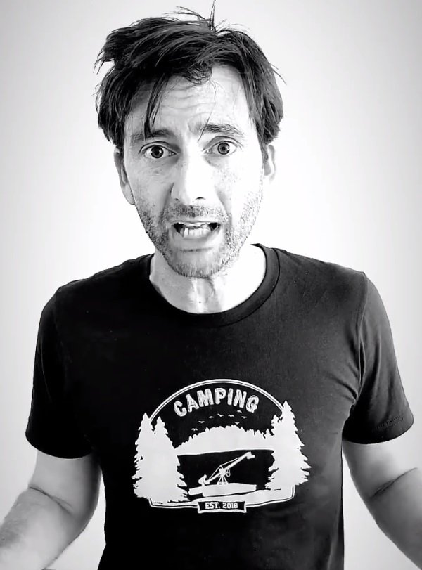 David Tennant thanking all the Dared Challenge runners