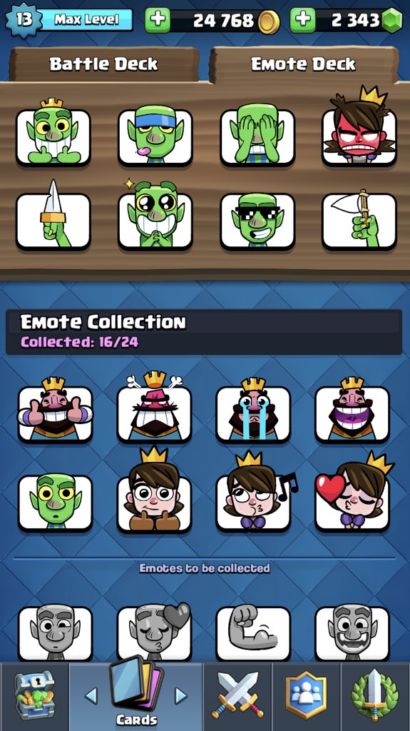 clash royale princess emotes