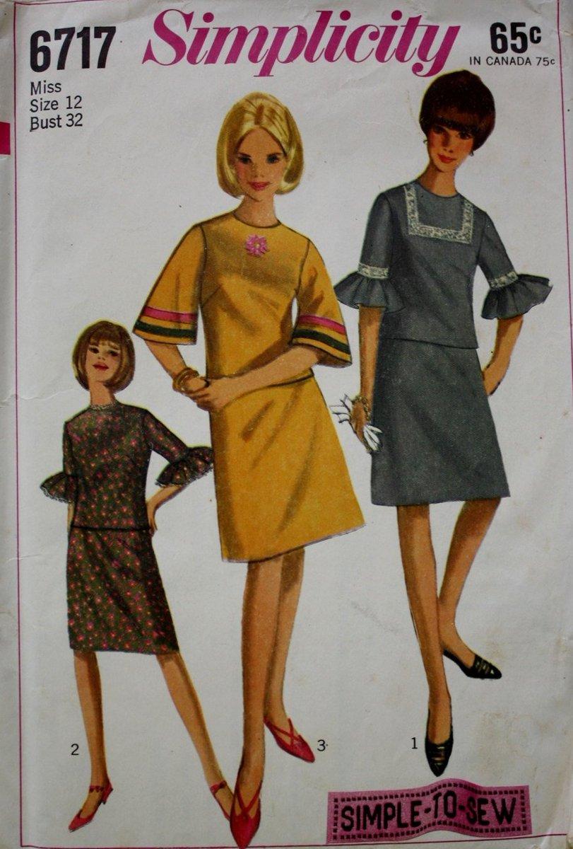 6f010f136 Vintage 60s Two Piece Dress Simplicity 6717 Sewing Pattern - UNCUT  http   tuppu