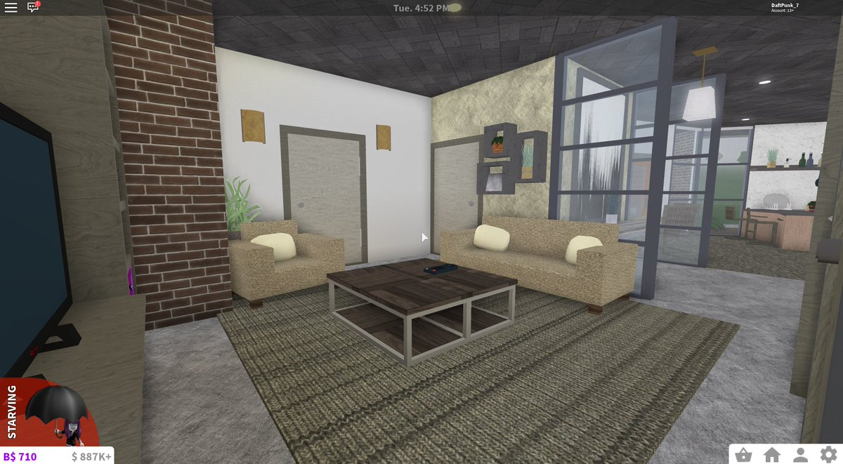 One story modern small house 51k single bedroom and single bathroom rbx coeptus bloxburgnews bloxburgrbxnews bloxburgbuilds bloxburg homes