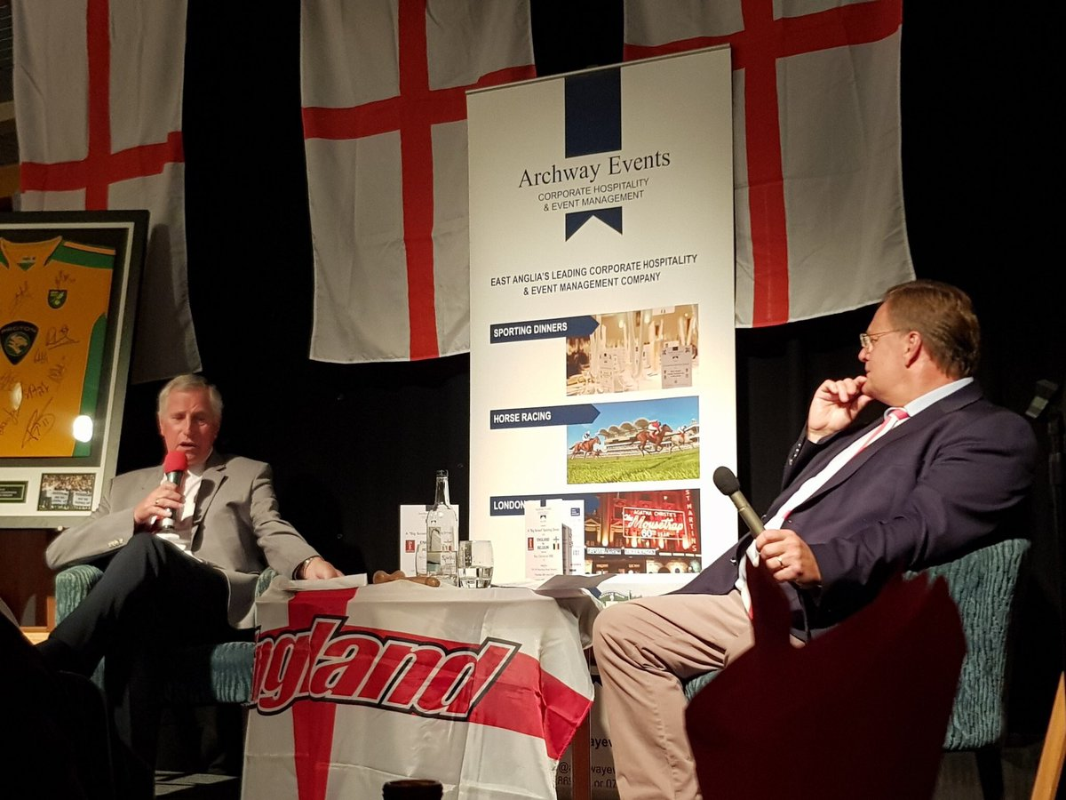 What a great night @mercurenorwich hosting a big screen sporting dinner working alongside @RayClem1. Admittedly not the result we wanted but surely we have to fancy our chances now, we are in the knockout stages ! Thanks go to @simplymagic19 @JuliaHolland & @neilahickman Supplies