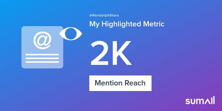 My week on Twitter 🎉: 17 Mentions, 2K Mention Reach, 3 Likes, 1 New Follower. See yours with <a target='_blank' href='https://t.co/zl5ssyDDU6'>https://t.co/zl5ssyDDU6</a> <a target='_blank' href='https://t.co/ZeGds6Xpue'>https://t.co/ZeGds6Xpue</a>