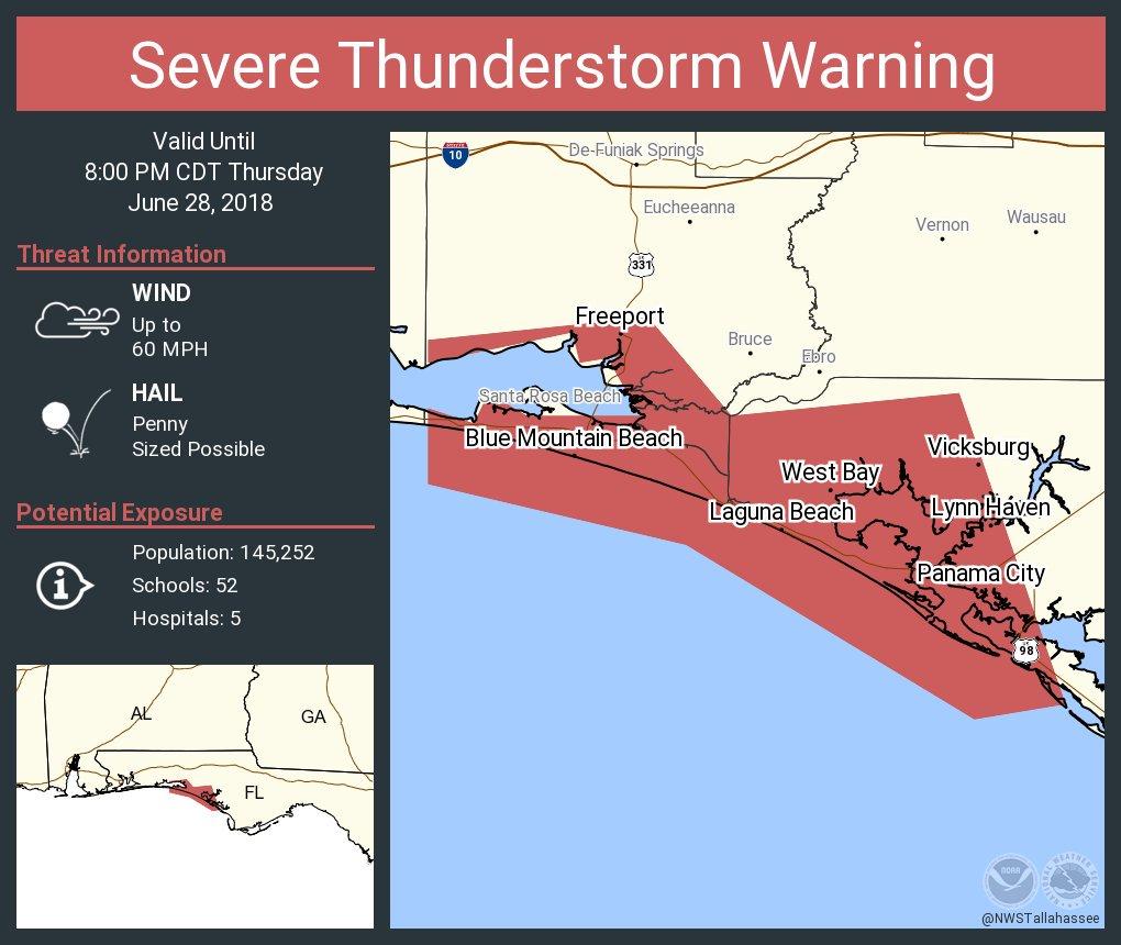 Laguna Beach Florida Map.Florida Storms On Twitter Official Nws Alert Severe Thunderstorm