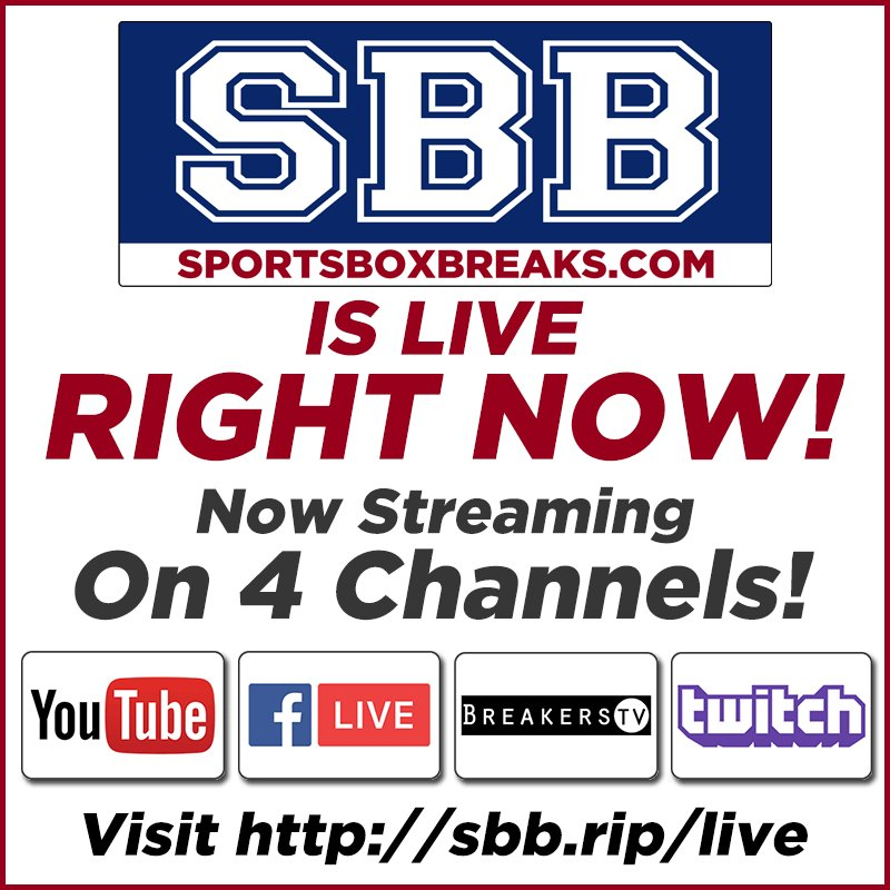 Sports Box Breaks On Twitter Live Now Sold Out Paniniamerica