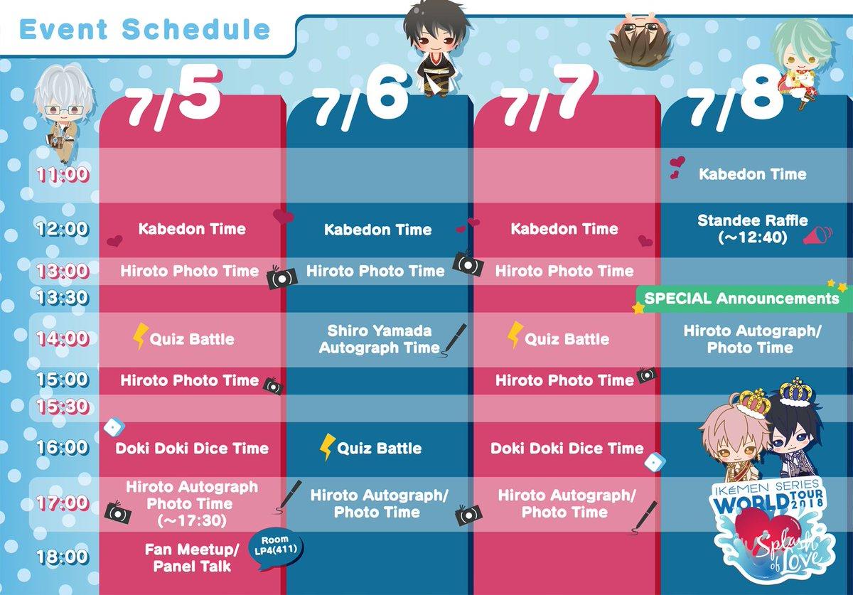 "ikémen series by cybird on twitter: ""◇anime expo schedule◇ here is"