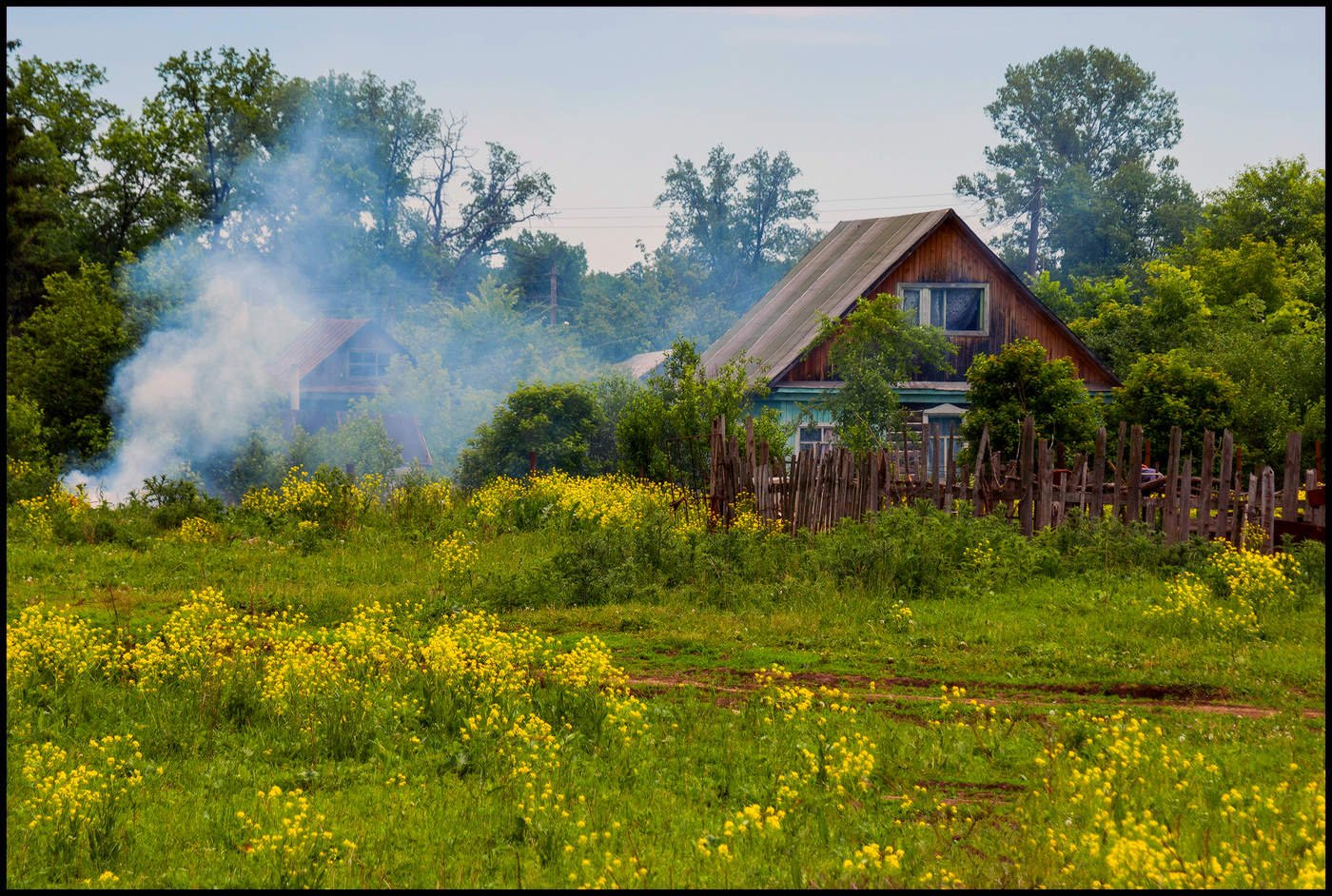 День матери, картинка деревня летом