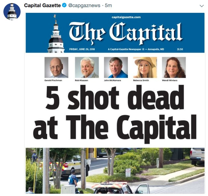 Front page of The Capital in Annapolis, Md., From TwitterPhotos