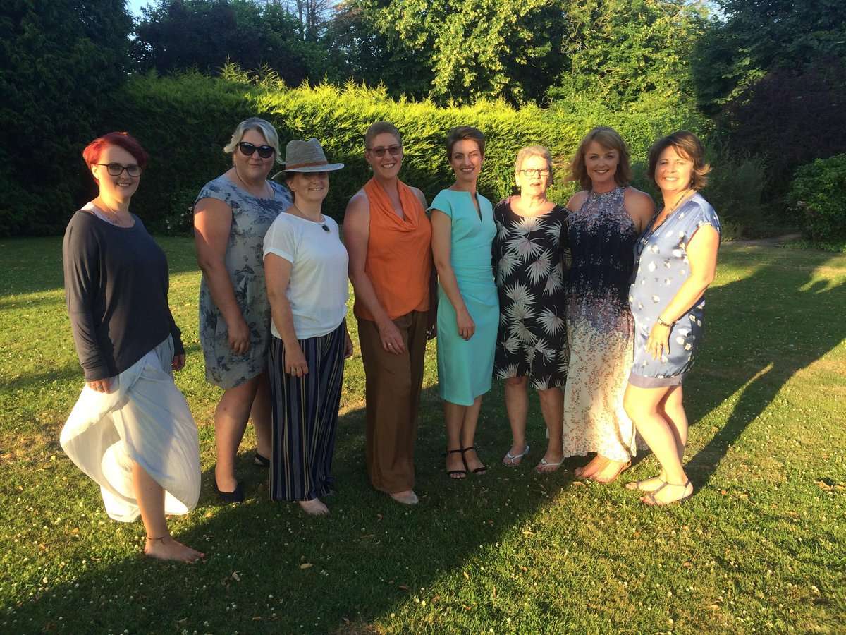 """Brilliant night last night @ColwallPark as a fashion show model raising money for @wbuhaven with @themalvernspa  Great to be with @Flooziesuze and all the other BC girls too #WorcestershireHour When I got cancer I decided to say """"yes"""" more, I'm so glad I did!"""
