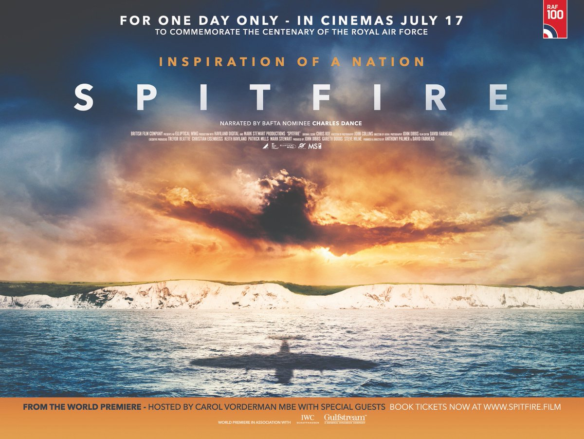 Spitfire (PG), Amy Robsart Hall, Syderstone PE31 8SD | The story of the Spitfire - inspiration of a nation. Credited with changing the course of world history, the film is told in the words of the last-surviving combat veterans and narrated by Charles Dance. | cinema children welcome