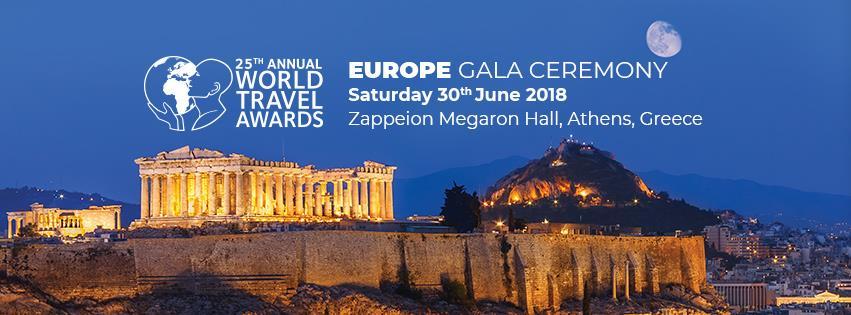 Αποτέλεσμα εικόνας για Europe's finest travel brands revealed at World Travel Awards in Athens