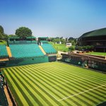 Image for the Tweet beginning: All blue skies at Wimbledon
