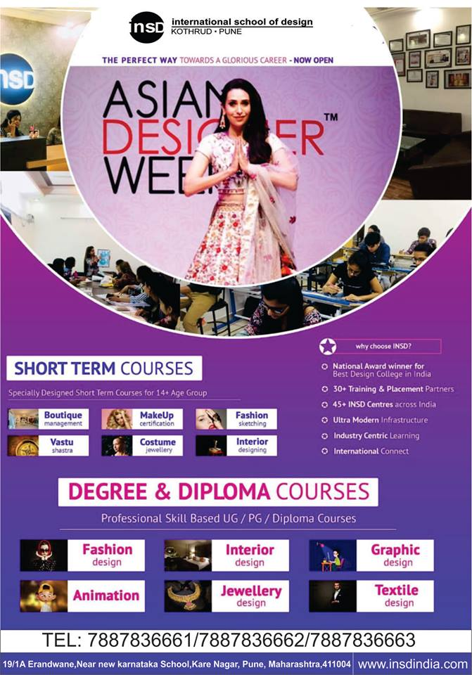 Insdpune Kothrud On Twitter Learn From The Industry Expert Bachelors Masters Diploma Degree With World Class Training Modules In Fashion Design Interior Design Jewellery Design Fashion Fashiondesign Jewellery Interiordesign