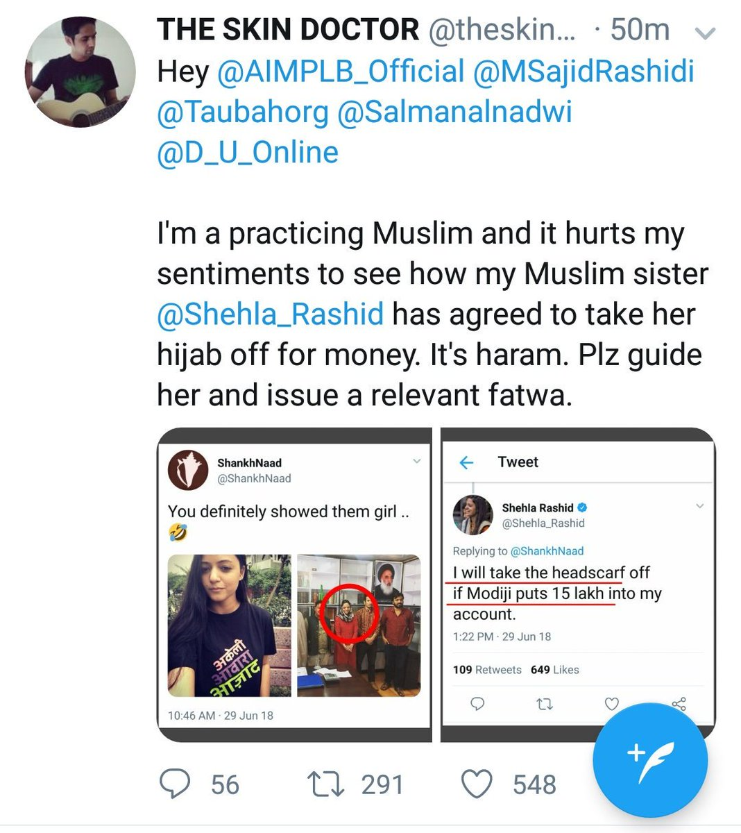 Complained Islamic Was Her To Fatwa Hijab Them Against Remove The theskindoctor13 Money For Shehla breaking Unpaid On Issues A Scholar aimplb Rashid official … After