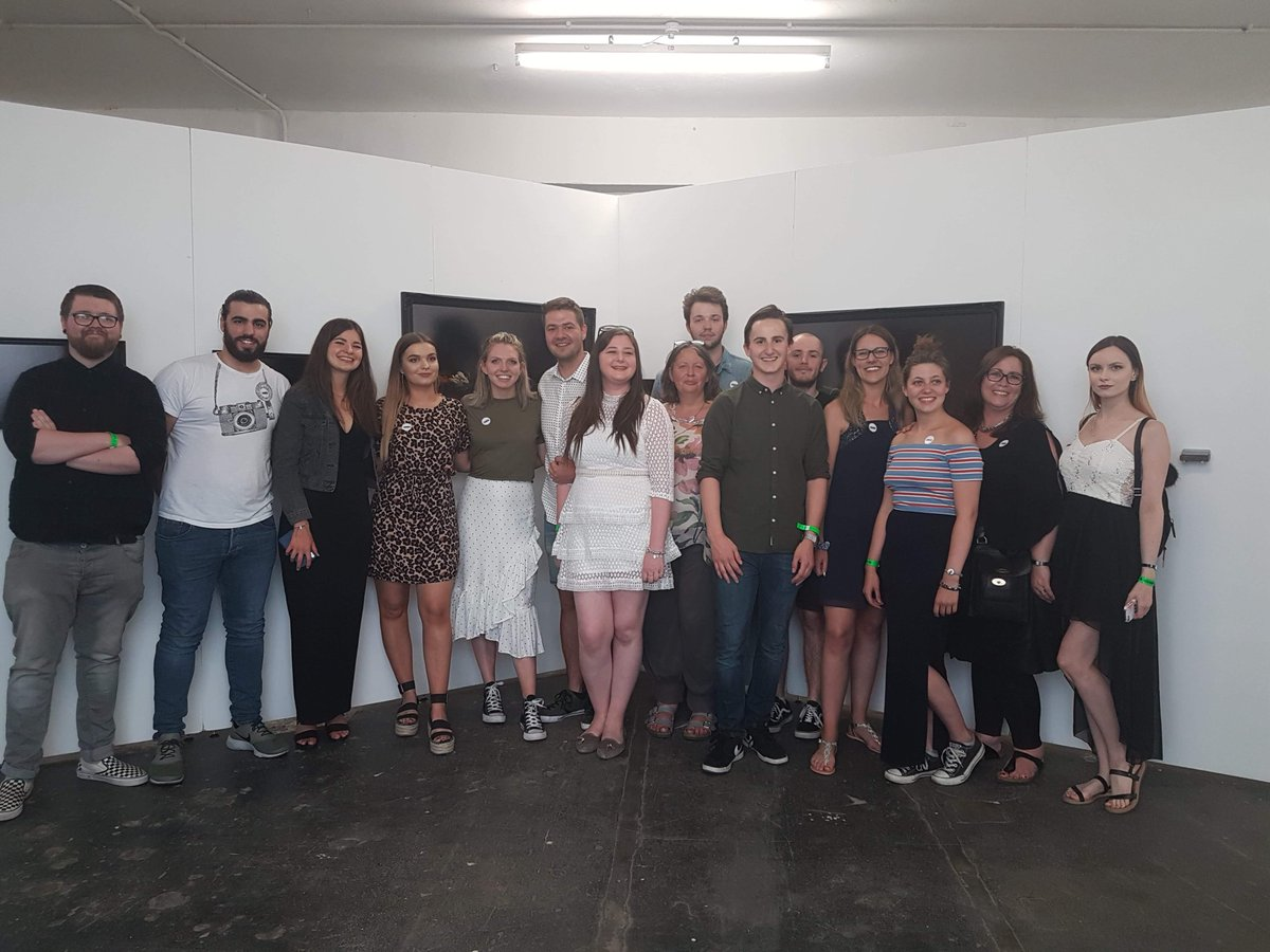Some more photos of our wonderful #photographystudents last night at their Private View for @FreeRangeShows at the @trumanbrewery - they've put on a brilliant show and remember to visit it before July 2!