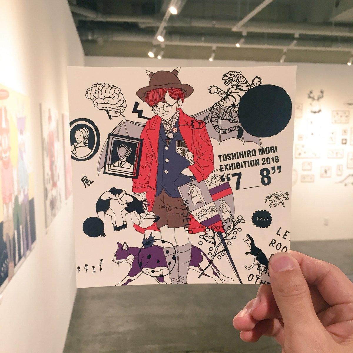 """いよいよ明日から2年ぶりの個展です! ほんとたくさん描いたからぜひ見て欲しい。 お待ちしてます!💫  森 俊博 個展 """"7_8"""" TOKYO 2018.6.30―7.8"""