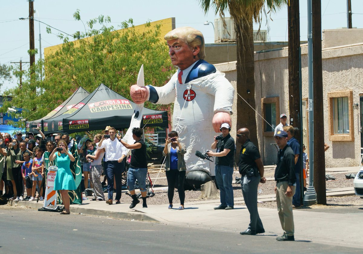 Image result for kkk trump balloon melania